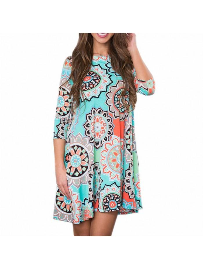 875fb9ccea 2018 Autumn Midi Dress Women Elegant Mandala Print Mini Dress Vintage  Pockets Party Dresses Loose Casual Dresses Vestidos