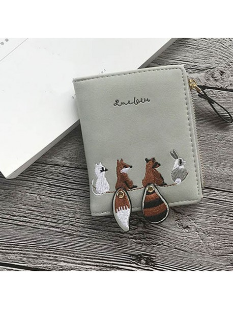 Wallet Women Leather Wallets Ladies Cartoon Animals Mini Wallet Zipper Purse Luxury Brand Bags For Women 2018 Carteira Feminina