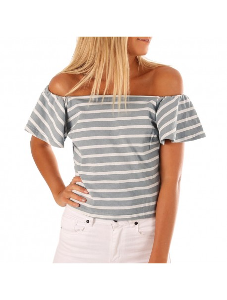 Womens Tops and Blouses Tunic White Off Shoulder Short Sleeve Crop Tops Tassel Sexy Shirt Ladies Clothes Women Beach Style